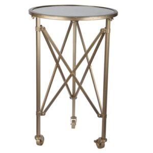 Mesa con espejo y ruedas