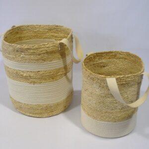 Canastos artesanales bicolor