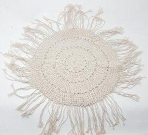 Individual de crochet blanco