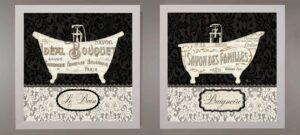 Cuadros vintage para baño