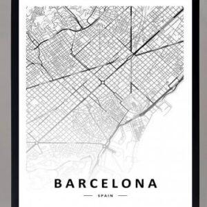 Cuadro Mapa Barcelona