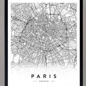 cuadro mapa paris