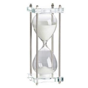 Reloj arena con soporte vidrio