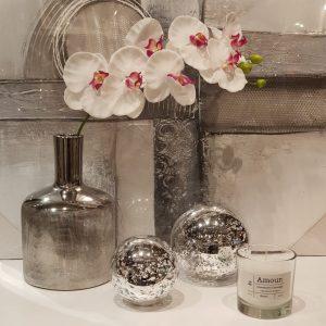 Esfera de vidrio mercury silver