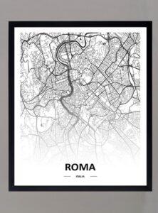 Cuadro Mapa Roma