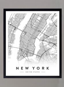 Cuadro Mapa NYC