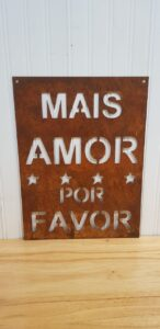 Cartel Mais amor