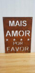Cartel Mais amor