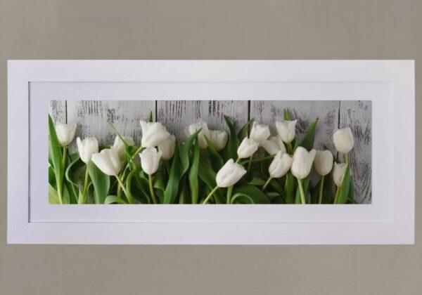 Cuadro rosas blancas