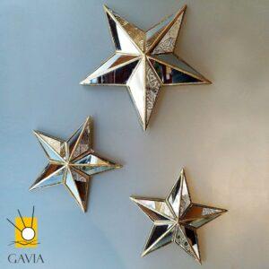 Estrellas espejadas pared